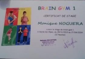 Equilibrage merveilleux certificat de stage